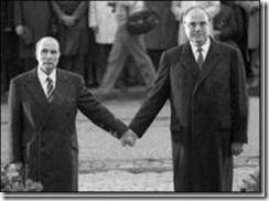 MItterrand et Kohl en 1984 à Verdun